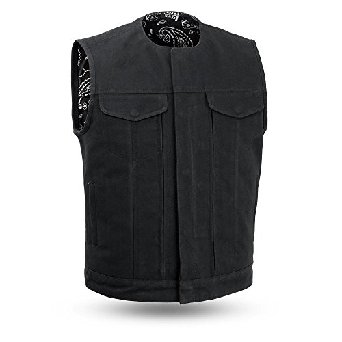 First Manufacturing Co FAIRFAX V2 raw canvas heavy duty vest W/Concealed carry pocket AMAZING QUALITY (L Regular) from First Manufacturing Co