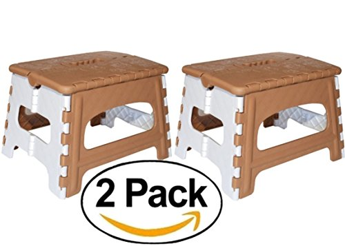 Green Direct Folding Step Stool for Kids and Adult for Bedside and Kitchen and Bathroom use By, Brown, Pack of 2