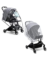 Rain Cover for Stroller Weather Shield Windproof with Insect Net, Waterproof, Dust Shield, Protect from Rain, Snow, Baby Travel Weather Shield by Prettop