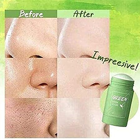 ExH - Mascarilla de limpieza profunda, mascarilla exfoliante activada, mascarilla purificadora de té verde para limpieza profunda de poros, control de grasa e hidratación