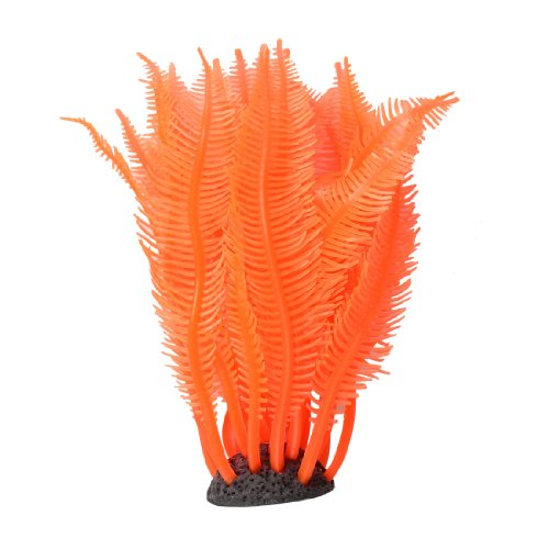 Jardin Silicone Decoration Ornament with Coral Resin Base for Aquarium, 4.5-Inch Height by Jardin