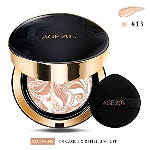 AGE 20  S SIGNATURE ESSENCE COVER PACT INTENSE COVER + REFILL +AIR PUFF SPF50+ / PA++++ (13 IVORY)