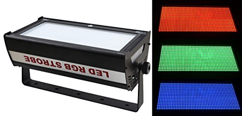 wecanlight DMX 1000 W Larga Duración Led Rgb 3 in1 Atomic Strobe 90 – 240 V, 50 – 60 Hz, uso para discoteca,...