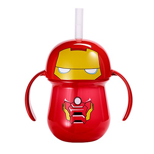 The First Years Marvel Ironman Straw Cup with Handles, 7 Ounce -