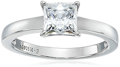 Cubic Zirconia Solitaire Princess Cut CZ Engagement Ring