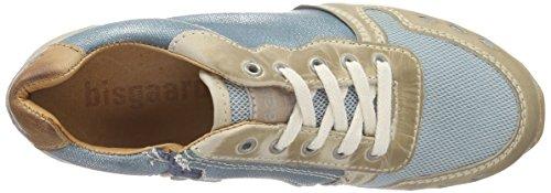Bisgaard Unisex-Kinder Shoe With Laces Low-Top Blau (09 Glitter-petrol)
