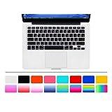 "HRH ARABIC Language Silicone Keyboard Cover Skin for MacBook Air 13"" MacBook Pro with or without Retina Display 13""15"" 17"" Apple Wireless Bluetooth Keyboard MC184LL/B (US Version) Ultra Thin Keyboard Skin Arabic/English-Black"