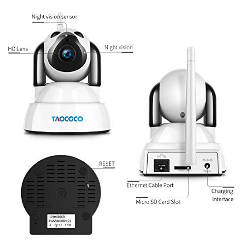 Video Surveillance 1080p Hd Network Camera Two-way Audio Wireless Network Camera Night Vision Motion Detection Camera Robot Pet Baby Monitor Drip-Dry Security & Protection