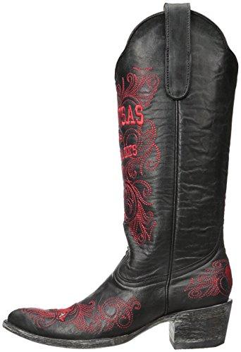 Ncaa Arkansas Razorbacks Womens 13-inch Gameday Boots Zwart