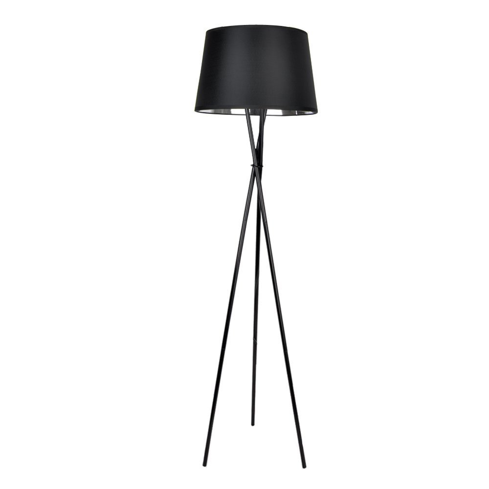 minisun  modern black and chrome tripod base and tapered shade  - minisun  modern black and chrome tripod base and tapered shade floor lampamazoncouk lighting