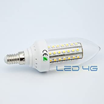 LED 4G 3700680000000 - Bombilla LED, 2.7 W, temperatura de color 3200 k, casquillo E14, color blanco: Amazon.es: Iluminación