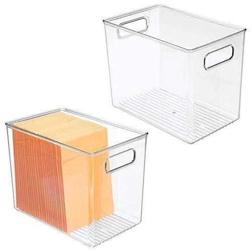 mDesign Plastic Homefice Storage