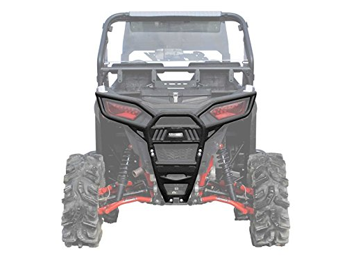 Heavy Duty Rear Bumper - SuperATV Polaris RZR 900 / S 900 / S 1000 (2015+) Heavy Duty Rear Bumper - Wrinkle Black
