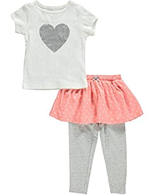 2 Piece Skirted Legging Set (Baby) Ivory