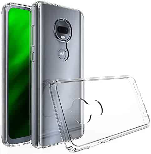 RKINC Case for Motorola Moto G7, Reinforced Corners Soft Cushion TPU Bumper + Hybrid Crystal Clear Rugged Hard Transparent Cover for Motorola Moto G7