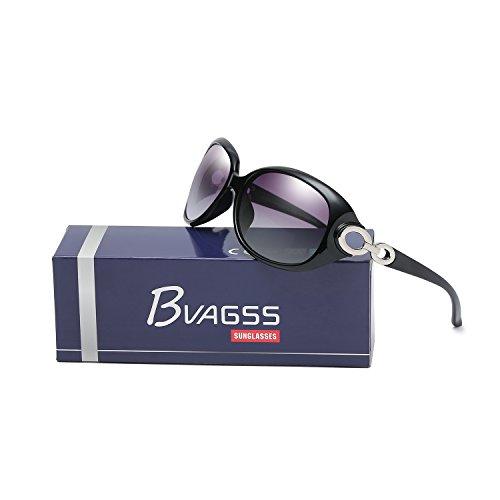 Polarizadas Black Lens Clásico Para De Estilo Moda Mujer De With Frame WS033 Sol De BVAGSS UV400 Gafas Black OxTnCwqd11