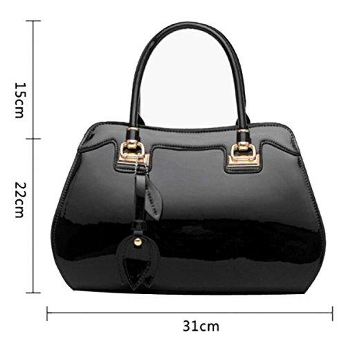 Bolso De Mujer Fashion Bright Bolso De Gran Capacidad,Blue Black