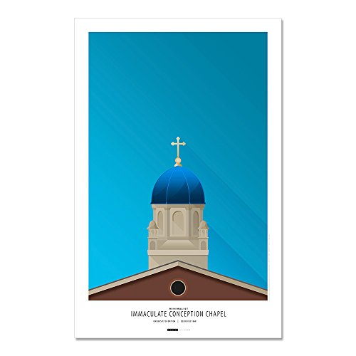 University Of Dayton - Immaculate Conception Chapel - Minimalist Art Poster Print