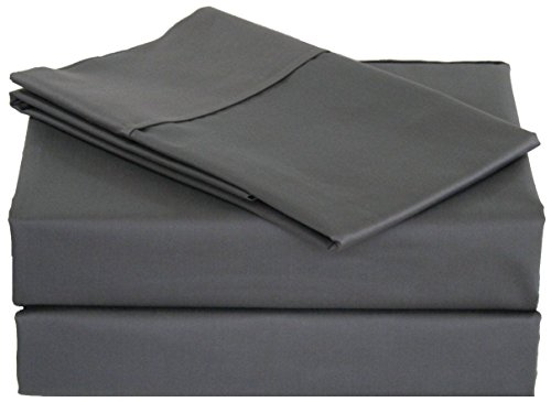"""Price comparison product image JB Linen 500 Thread Count 100% Pure Egyptian Cotton 4-Piece Sheet Set Queen Bed Size (60"""" x 80"""") Elephant Gray Solid Fit Up To 9"""" Deep Mattress Limited Period Offer."""