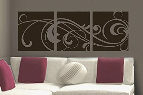 Amazon Com Windy Scroll Paneling Vinyl Wall Lettering Words Sticky