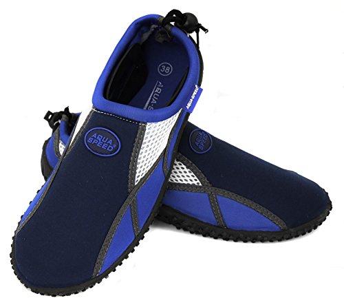 Damen Speed 17A MODELL Herren Navy Poolschuhe Badeschuhe Schuhe Blau Kinder Mikrofaserhandtuch Aqua Set Aqua Jugendliche Neopren dqFXxwOaO
