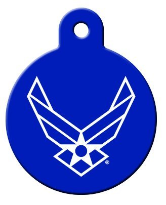 America's Armed Forces Collection Licensed Personalized Custom Engraved Pet ID Tags! (Air Force (Circle), Small) ()