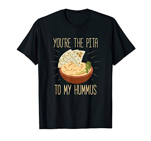 Funny Middle Eastern Food Hummus & Pita TShirt Complete Me T