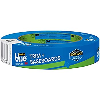 ScotchBlue 2093EL-24E Trim + BASEBOARDS Painter's Tape, 0.94-Inch x 60-Yard, 1 Roll, Blue