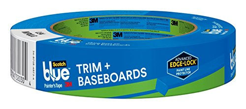 Blue Trim + BASEBOARDS Painter's Tape, 0.94-Inch x 60-Yard, 1 Roll.94, Blue ()