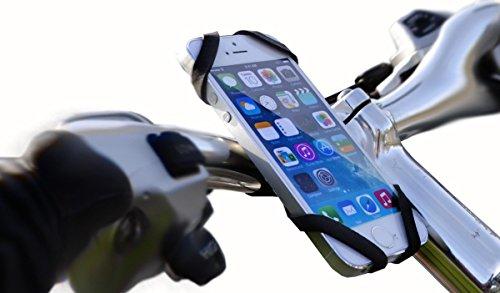 REALflex-Strap SMART - One4All-Halterung - Smartphone-Halterung / Handyhalterung, Finger-Halterung; Pokémon GO-Halfter / Gadget; multifunktionaler und mega robuster Universaladapter aus Gummi. Smartphonehalterung am Motorradlenker und Fahrradlenker und Halterung in Küche, Bad, Werkstatt und Freizeit. STRETCH - STAND AND FIX IT!