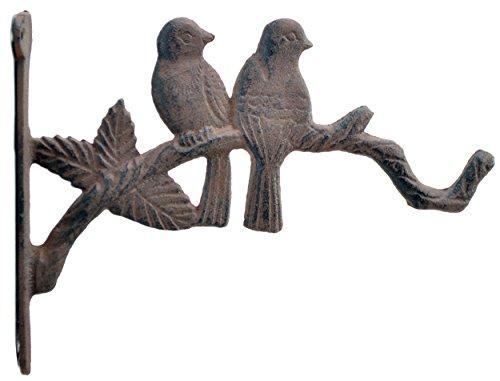 Love Birds Decorative Plant Hanger Cast Iron Flower Basket Hook 10