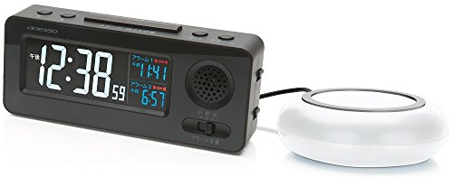 ADESSO( 아뎃소 ) 자명종 식 전파 시계 날짜 표시 블랙 MY-96