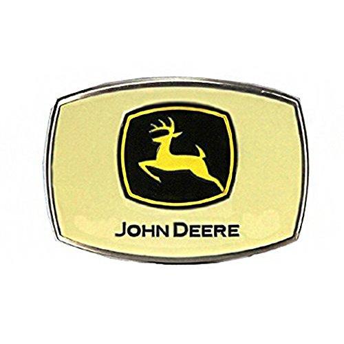 (John Deere Brand Pewter Belt Buckle - JDM603, Silver)