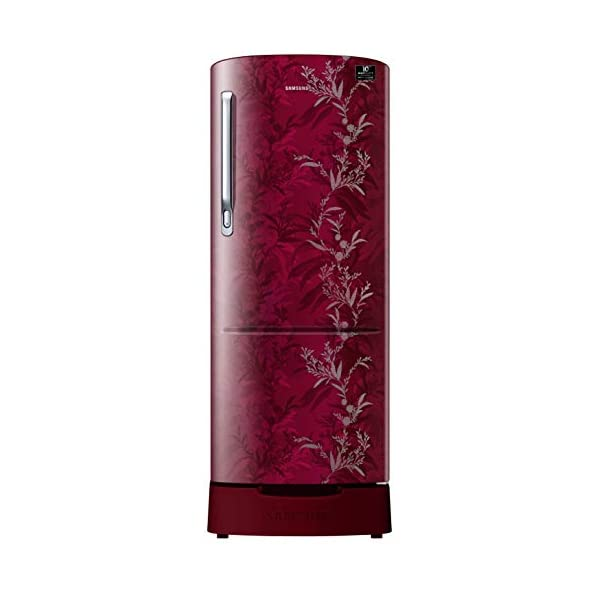 Samsung 230 L 3 Star Inverter Direct-Cool Single Door Refrigerator (RR24T285Y6R/NL, Mystic Overlay Red) 2021 July Direct-cool refrigerator : Economical and Cooling without fluctuation Capacity 230 liters: Suitable for families with 2 to 3 members and bachelors Energy rating 3 Star : high efficiency model