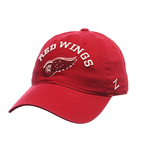 NHL Detroit Red Wings Men's Centerpiece Relaxed Adjustable Hat, Red