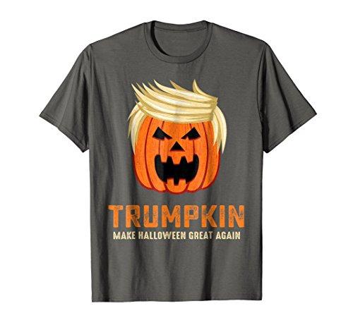 72e50bb3 Mens Make Halloween Great Again Funny Trumpkin T-Shirt 2XL Asphalt ...