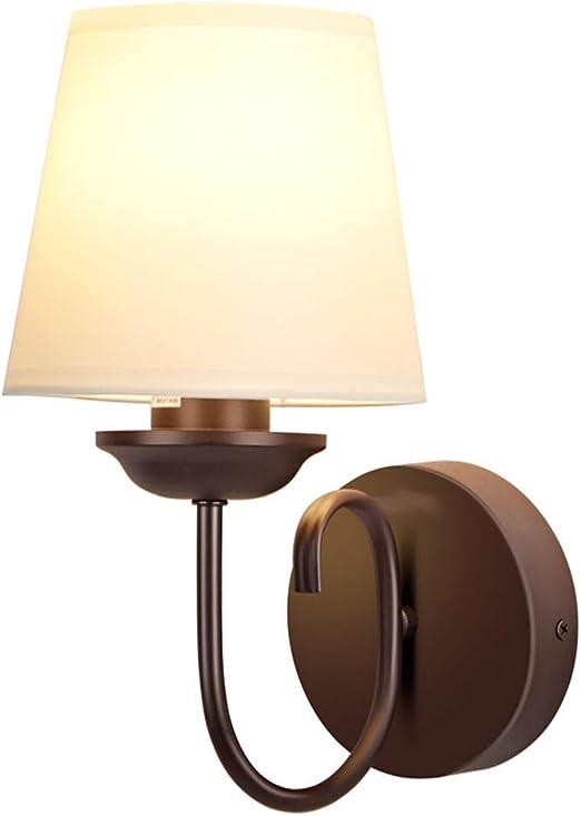 HENGXIAO-wall lamp Cálido Y Romántico Lampara Pared- Hotel Clubhouse Iron Art Dormitorio Cama Cabeza Escalera Pasillo Sala De Estar Iluminación [Clase De Energía A ++]: Amazon.es: Hogar