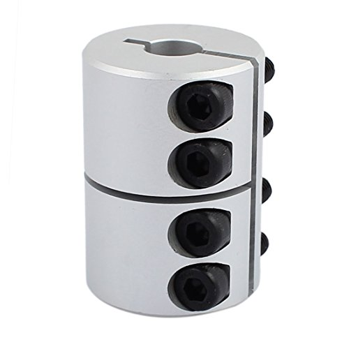 uxcell 10mm to 10mm Shaft Coupling 45mm Length 32mm Diameter Coupler Aluminum Alloy Joint Motor for 3D Printer CNC Machine DIY Encoder