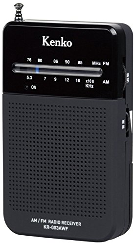 Kenko 라디오 AMFM 포켓 라디오 KR-003AWF 와이드 FM 지원 단 3 형 건전지 사용 / Kenko Radio AMFM Pocket Radio KR-003AWF Wide FM Compatible AA-type Dry Battery