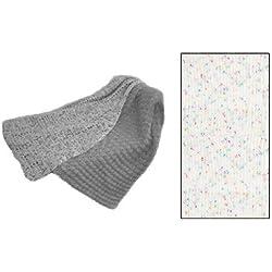"""Easy Peasy Baby Blanket"" Crochet Kit in Toybox Confetti Yarn - White Confetti"