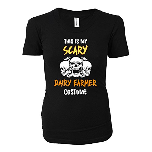 [This Is My Scary Dairy Farmer Costume Halloween Gift - Ladies T-shirt] (Farmers Daughter Halloween Costume)