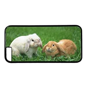 Cool IPhone 6S Case Awesome 0018723 lovely rabbits 001 case for iphone 647 pc material black Apple IPhone 6 Skin