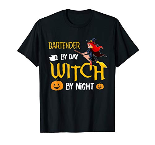 Bartender Funny Witch Halloween Costume Gift Ideas T-Shirt