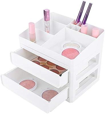 Estuche de almacenamiento de maquillaje, Estuche de almacenamiento de cosméticos, Cajones de almacenamiento de joyas y cosméticos Cajas organizadoras de maquillaje Ahorro de espacio en la caja: Amazon.es: Belleza