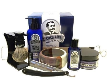 Colonel Conk Model 2316 Straight Razor Set with Santa Fe Bowl by Colonel Conk