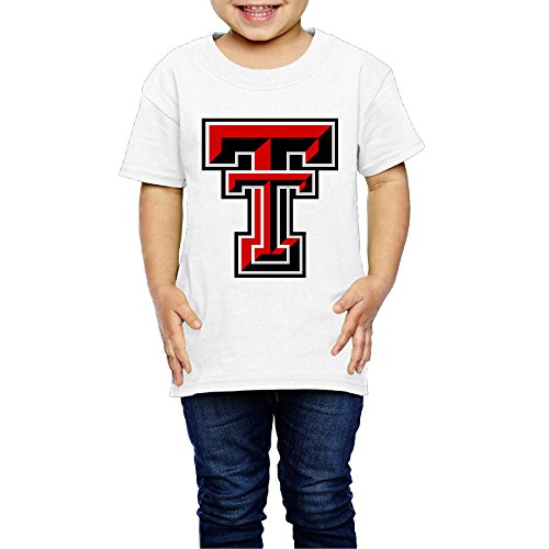 T-shirt 2 Tech Logo (GUC Kid's T Shirt For Girls&Boys - Texas Tech University Logo White 2 Toddler)