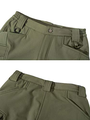 KEFITEVD Pantalons Tactiques Soft Shell pour Hommes Doublure en Polaire Chaude Pantalon de Ski Pantalon Cargo…