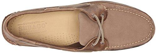 Boat M Shoe Men's 7 Us Schooner Sebago Taupe Dark 4qfvZB