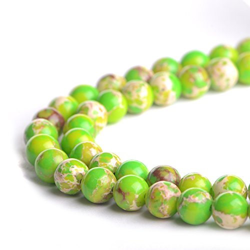 Natural Green Imperial Tuiquoise 8mm Gemstone Loose Beads Polished Round Crystal Quartz Energy Healing Power Stone Beads For Jewelry Making&DIY