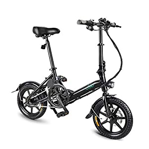 FIIDO D3S Folding EBike, 250W Aluminum Electric Bicycle with Pedal for Adults and Teens, 16″ Electric Bike 15Mph with 36V/7.8AH Lithium-Ion Battery, Professional Quick-Shift Shimano 6-Speed
